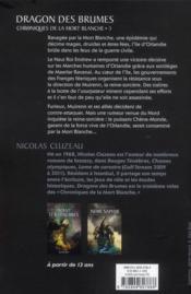 Chroniques de la mort blanche t.3 ; dragon des brumes - 4ème de couverture - Format classique