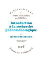 Introduction à la recherche phénoménologique - Couverture - Format classique