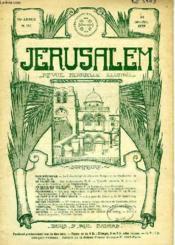 JERUSALEM, 24e ANNEE, N° 147, JAN.-FEV. 1929, REVUE MENSUELLE ILLUSTREE - Couverture - Format classique