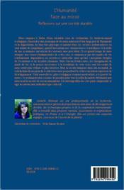 L'humanité face au miroir ; réflexions sur une société durable - 4ème de couverture - Format classique