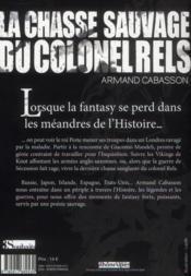 La chasse sauvage du colonel Rels - 4ème de couverture - Format classique