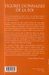 Figures lyonnaises de la foi - 4ème de couverture - Format classique