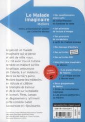 Le malade imaginaire - 4ème de couverture - Format classique