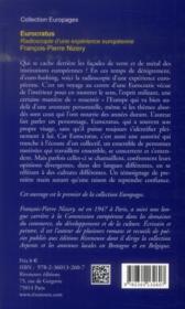 Eurocratus ; radioscopie d'une expérience européenne - 4ème de couverture - Format classique