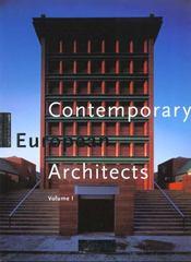 Contemporary european architects volume 1 - Intérieur - Format classique