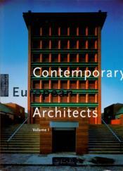 Contemporary european architects volume 1 - Couverture - Format classique