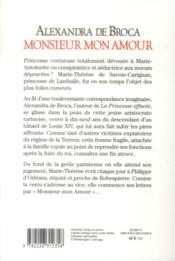 Monsieur mon amour - 4ème de couverture - Format classique