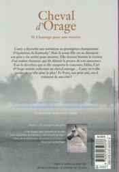 Cheval d'orage t.2 - 4ème de couverture - Format classique