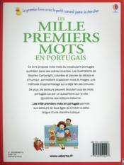 Les mille premiers mots en portugais - 4ème de couverture - Format classique