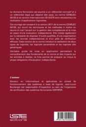 Mise en œuvre des normes CENELEC 50128 et IEC 62279 - 4ème de couverture - Format classique
