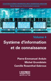 Système d'information et de connaissance - Couverture - Format classique