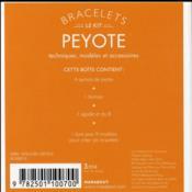 Le kit bracelets peyote - 4ème de couverture - Format classique