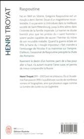 Raspoutine - 4ème de couverture - Format classique