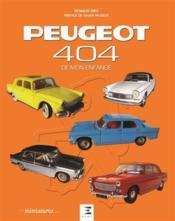 Peugeot 404 de mon enfance - Couverture - Format classique