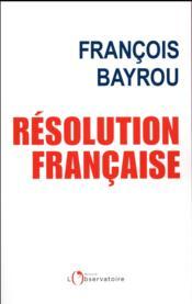 Résolution française - Couverture - Format classique
