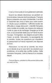 Résolution française - 4ème de couverture - Format classique