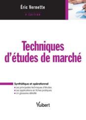 Techniques d'étude de marché ; synthétique et opérationnel (4e édition) - Couverture - Format classique