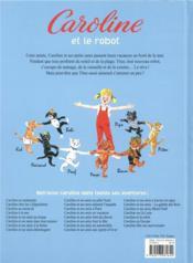 Caroline et le robot - 4ème de couverture - Format classique