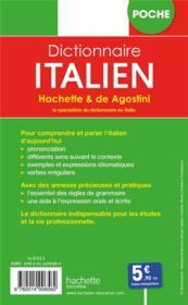Dictionnaire Hachette & de Agostini poche ; français-italien / italien-français - 4ème de couverture - Format classique