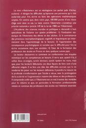 L'illettrisme - 4ème de couverture - Format classique