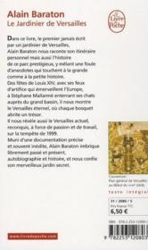 Le jardinier de Versailles - Couverture - Format classique