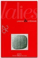 Revue Lalies N.26 - Couverture - Format classique