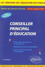 Conseiller Principal D'Education Tous Concours De L'Education Nationale Fonction Publique D'Etat - Intérieur - Format classique