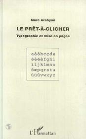 Le prêt-à-clicher ; typographie et mise en pages - Intérieur - Format classique