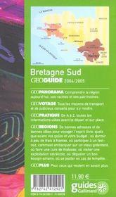 Geoguide ; Bretagne Sud (Edition 2004/2005) - 4ème de couverture - Format classique
