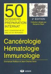 Cancérologie, hématologie, immunologie - Intérieur - Format classique