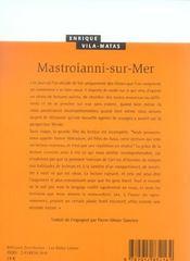 Mastroianni Sur Mer - 4ème de couverture - Format classique