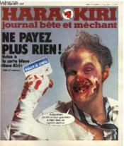 Hara-Kiri Mensuel Journal Bete Et Mechant N°192 - Ne Payez Plus Rien ! Grace A La Carte Bleue