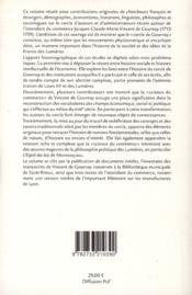 Le cercle de Vincent de Gournay ; savoirs économiques et pratiques administratives en France au milieu du XVIIIè siècle - 4ème de couverture - Format classique