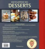 Encyclopédie des desserts - 4ème de couverture - Format classique