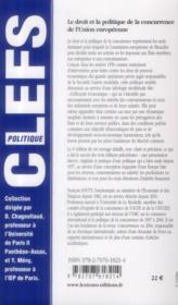 Droit et la politique de la concurrence de l'Union européenne (4e édition) - 4ème de couverture - Format classique