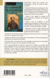 Le comte de St-Germain ; rose croix invisible - 4ème de couverture - Format classique