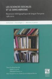 Sciences sociales et le sans-abrisme - Couverture - Format classique