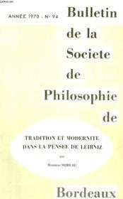Bulletin De La Societe De Philosophie De Bordeaux, N° 94, 1970 - Couverture - Format classique