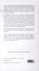 Dictionniare français-gaulois - 4ème de couverture - Format classique