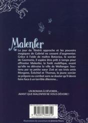 Malenfer T.2 ; la source magique - 4ème de couverture - Format classique