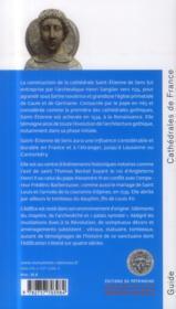 Sens ; la cathédrale Saint-Etienne - 4ème de couverture - Format classique