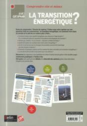 La transition énergétique ? - 4ème de couverture - Format classique
