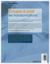 Le modélisme de mode t.2 ; coupe à plat les transformations (2e édition) - 4ème de couverture - Format classique