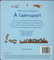 À l'aéroport - 4ème de couverture - Format classique