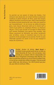Les années d'études au lycée Concorcet et à la Sorbonne - 4ème de couverture - Format classique