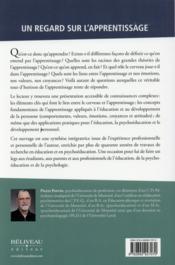 Comprendre l'apprentissage pour mieux éduquer ; une approche psychoéducative - 4ème de couverture - Format classique