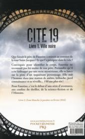 Cité 19 t.1 ; ville noire - 4ème de couverture - Format classique