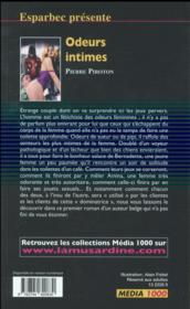 Les interdits T.475 ; odeurs intimes - 4ème de couverture - Format classique