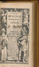 D. Magni Ausonii Burdigalensis Opera - Couverture - Format classique