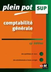 Comptabilité générale (13e édition) - Couverture - Format classique